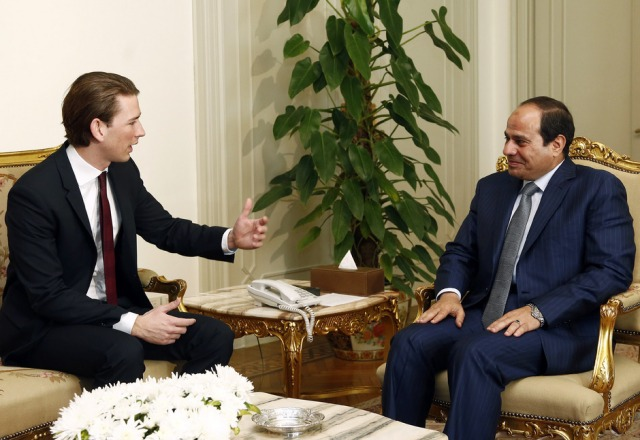 Außenminister Sebastian Kurz mit Ägyptens Staatschef Abdel Fattah al-Sisi. (c) Austrian Ministry for Foreign Affairs